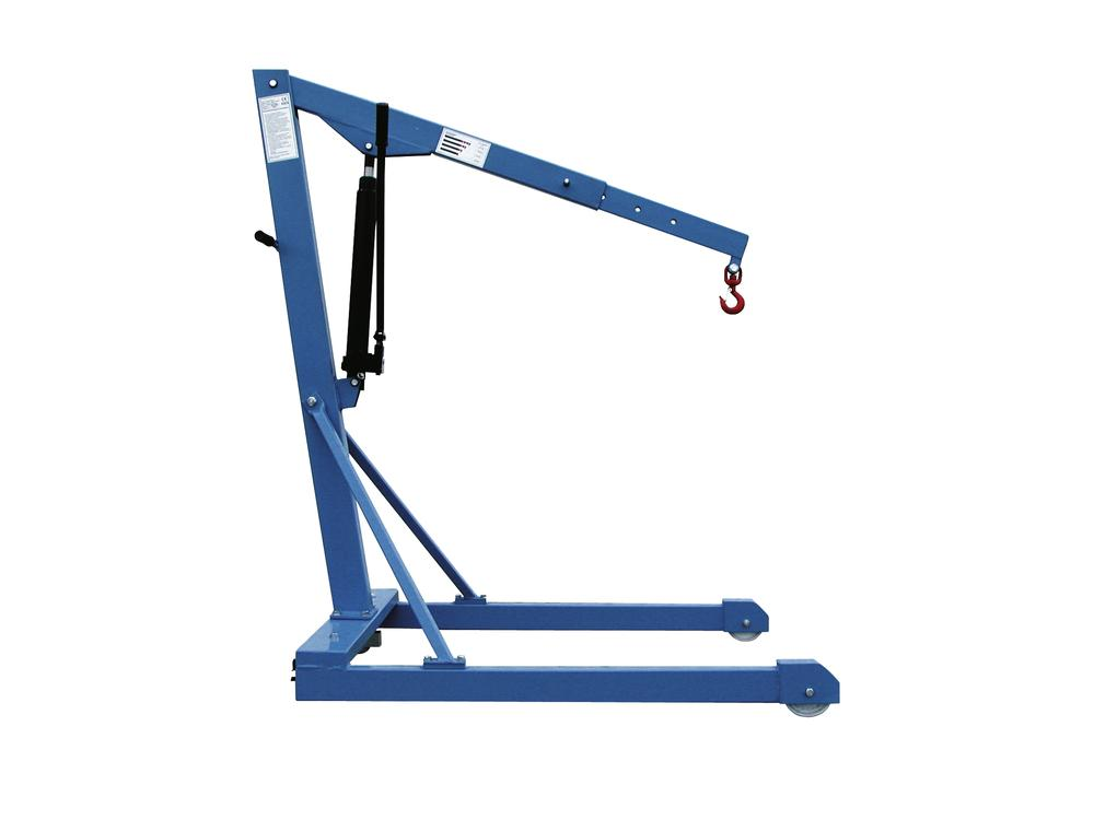 Light crane LBK 1000-P with dual action hand pump, parallel frame
