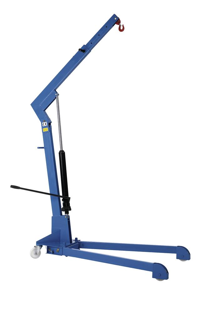 Light crane LBK 500-W with dual action hand pump, separated frame