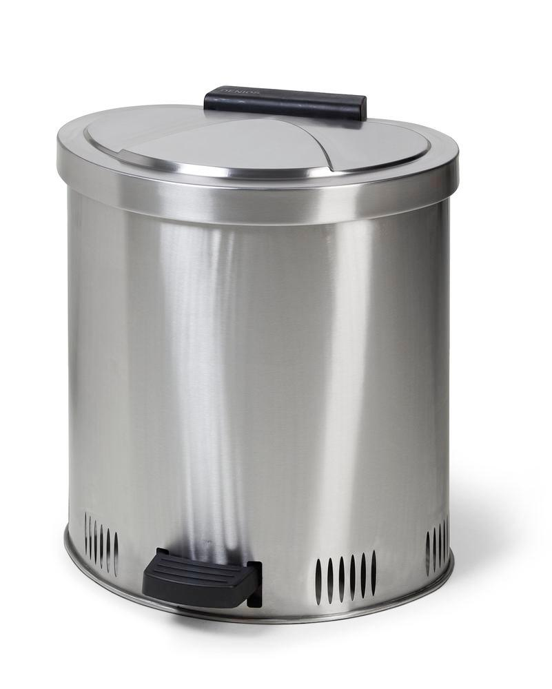 Safe disposal bin 50 l, stainless steel