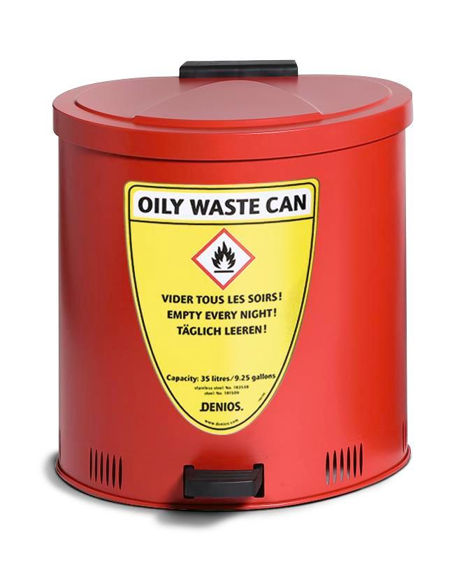 Safety collection container 80 litre volume, steel, red