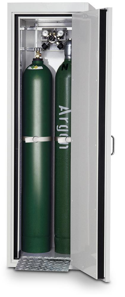 asecos fire-rated gas cylinder cabinet G30.6, 600 mm wide, door opening right, grey