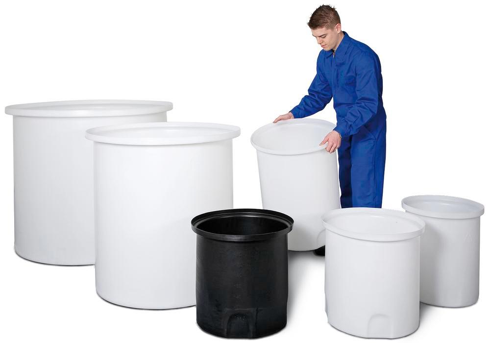 Catch container, to store Polyethylene carboys and jugs, 1000 litre volume, black - 1