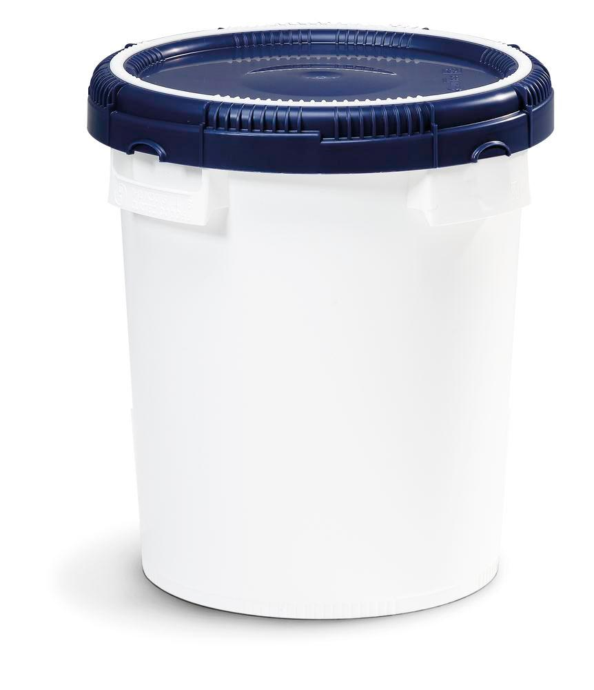 Click Pack X container, 20l, white, with lid, nestable, with UN approval