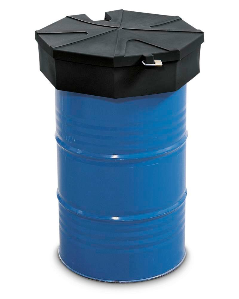 Drum funnel in polyethylene (PE), with strainer and lid, electrically conductive - 1
