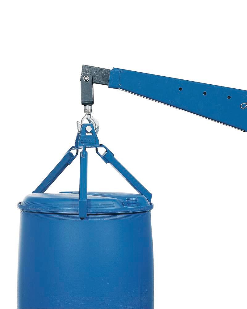 Drum gripper model P 360 for lifting vertical 205 ltr steel drums and 220 ltr plastic L-Ring drums