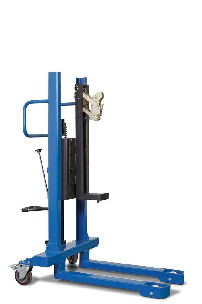 Drum lifter FL 8-M of steel, painted, with hydraulic pump, for 60-/200-l steel drums