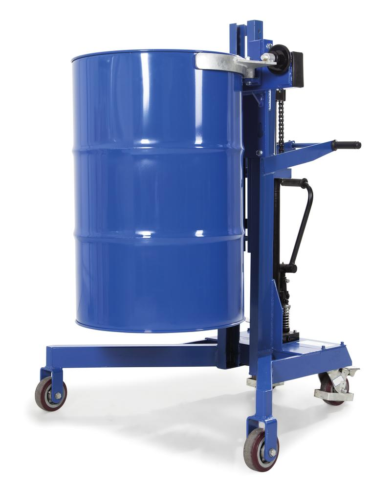 Drum lifter LD-SK in steel for 205 - 220 l steel and plastic drums, V form frame, painted - 3