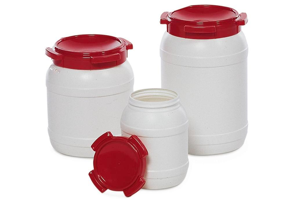 Drum, With Wide Opening, Model WH 20, White/Red, 20l