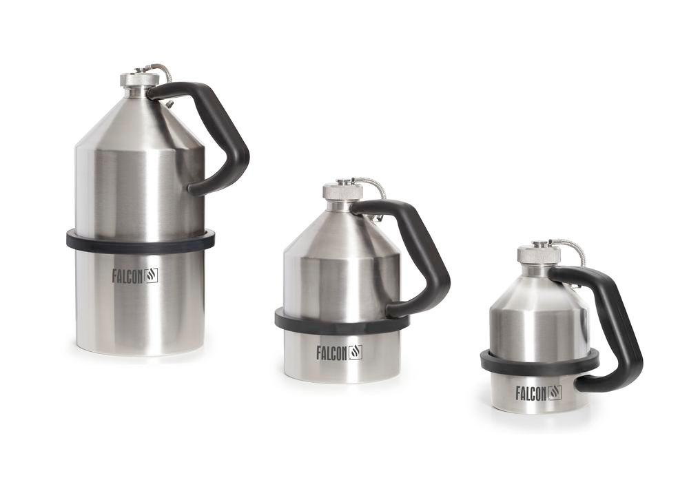 FALCON safety jug in stainless steel, with screw cap, 1 litre - 1