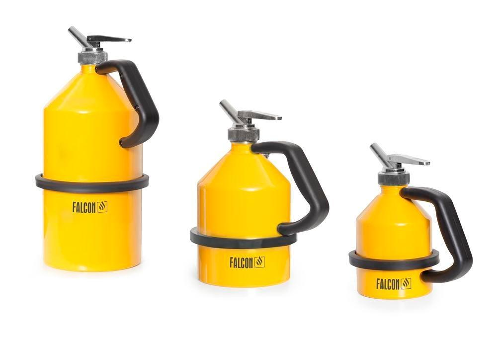 FALCON safety jug in steel, painted, with fine dosing tap, 2 litre - 2
