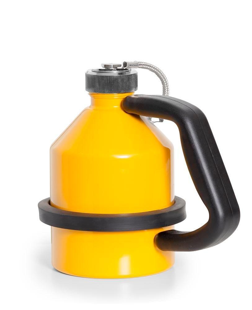 FALCON safety jug in steel, painted, with screw cap, 1 litre