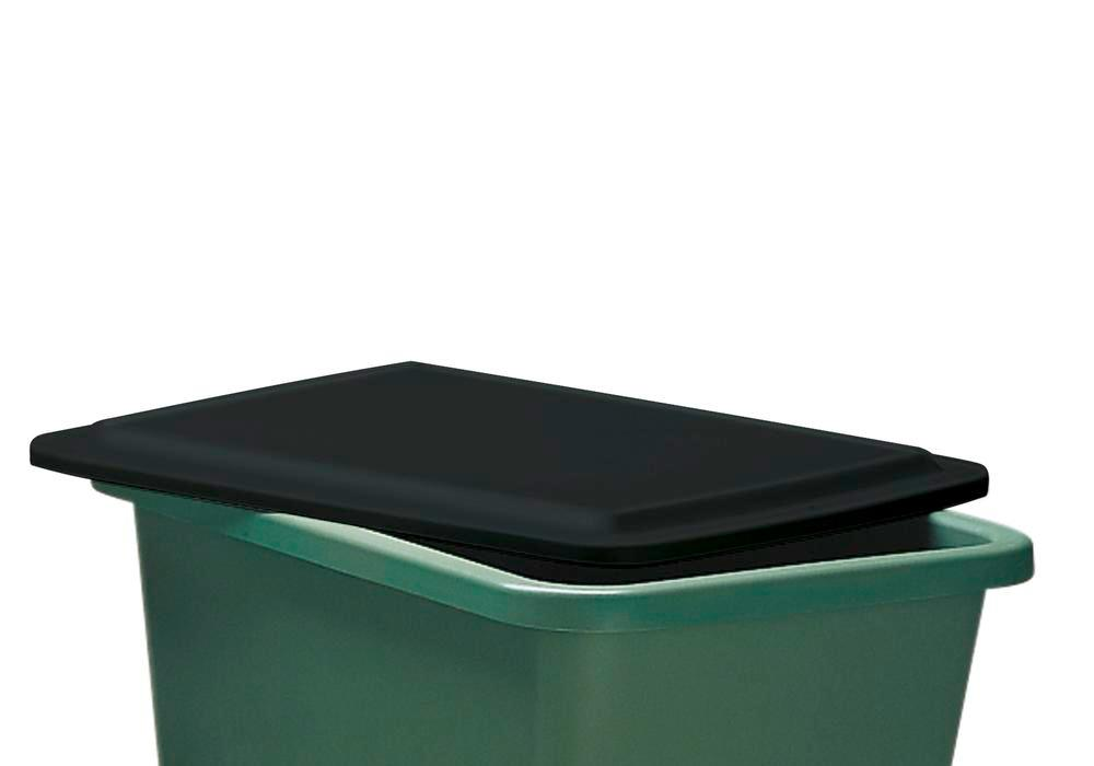 Flat lid, for rectangular container with 100 litre capacity
