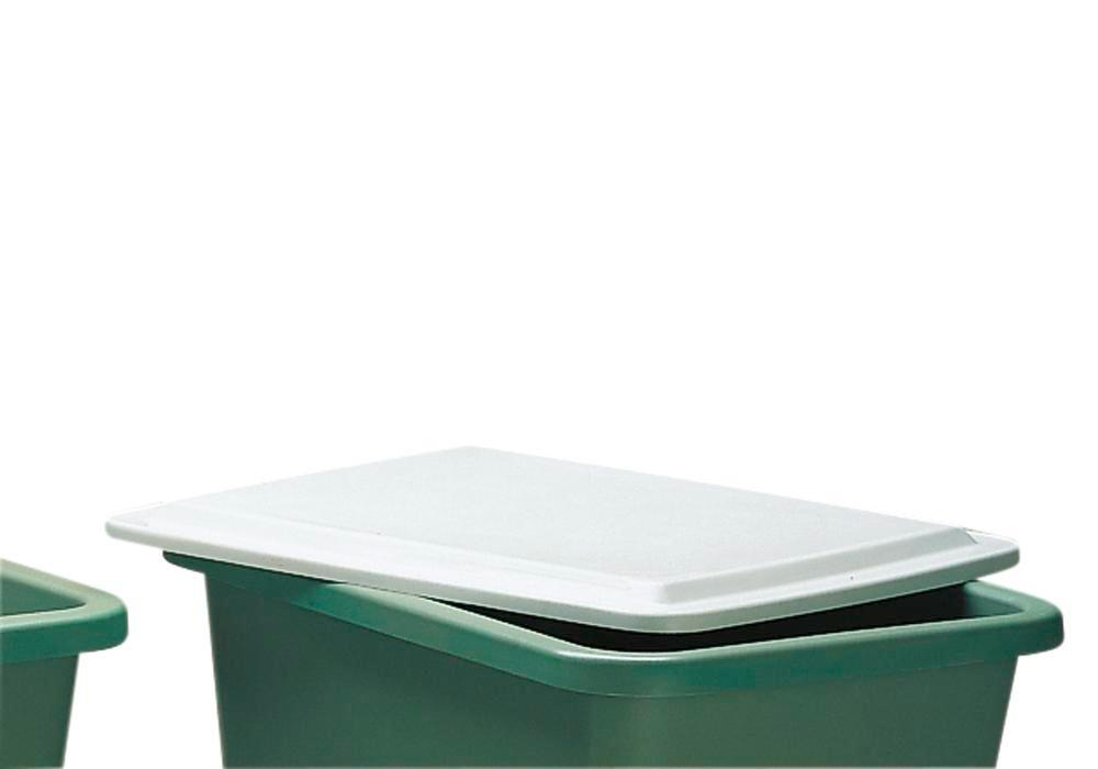 Flat lid, for rectangular container with 1100 litre capacity - 1