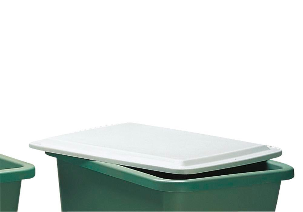 Flat lid, for rectangular container with 700 litre capacity