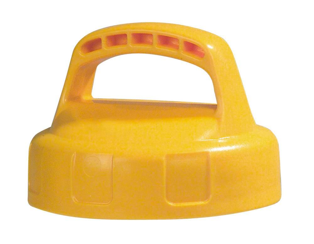 Function lid for liquid container, closed, yellow