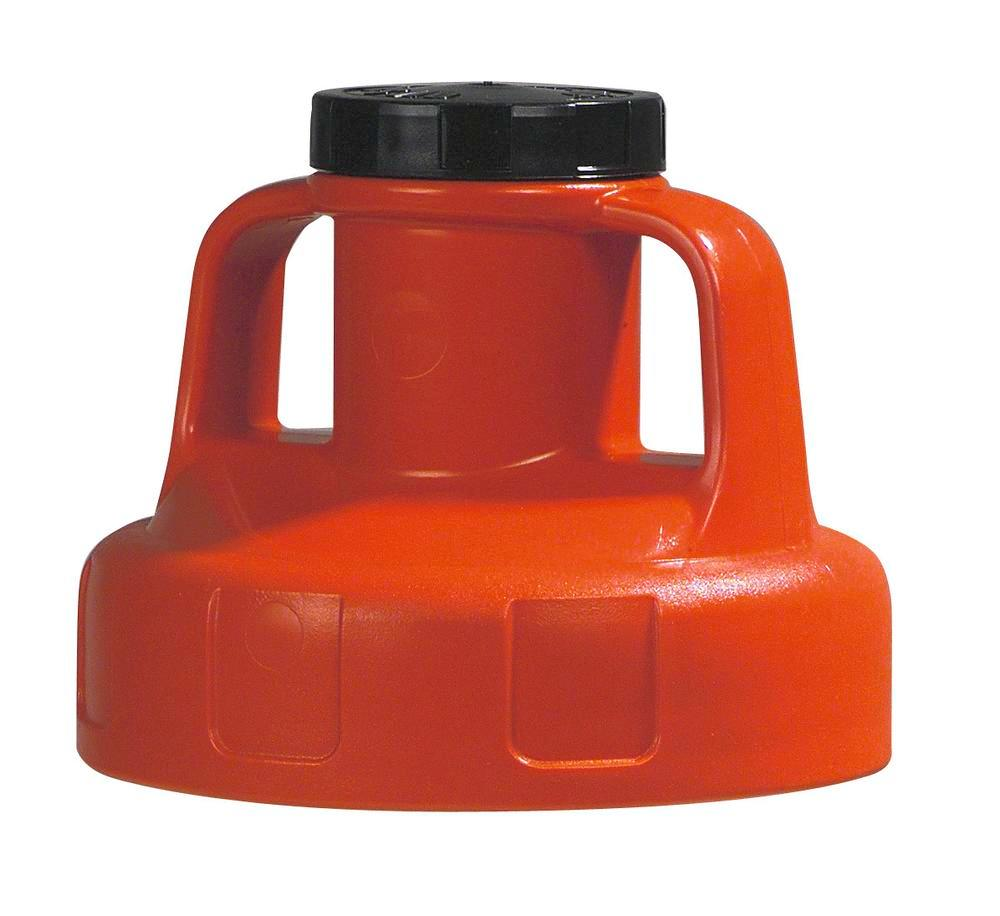 Function lid for liquid container, for pump, red
