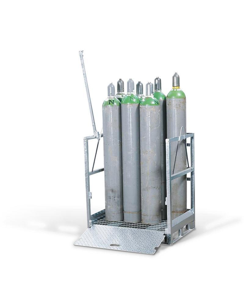 Gas cylinder pallet GFP 50, galvanised, for 12 gas cylinders with max. Ø 230 mm
