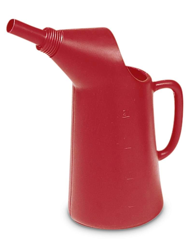Jug, polyethylene, 2 litre capacity, red