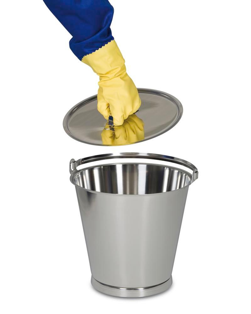 Lid for 10 litre stainless steel bucket - 2