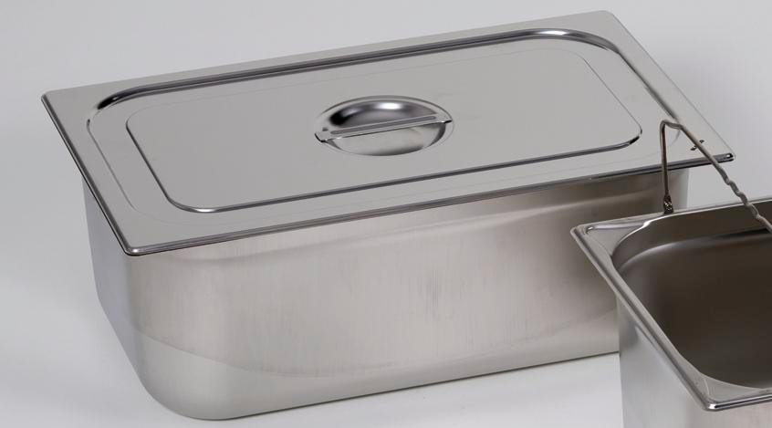 Lid for small container GN 2/3, stainless steel - 1