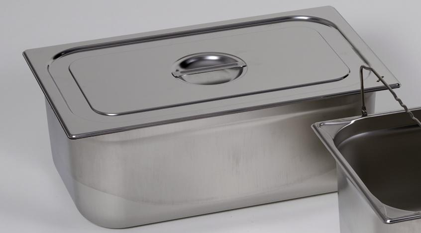 Lid for small container GN-B 1/1, stainless steel, with handle - 1