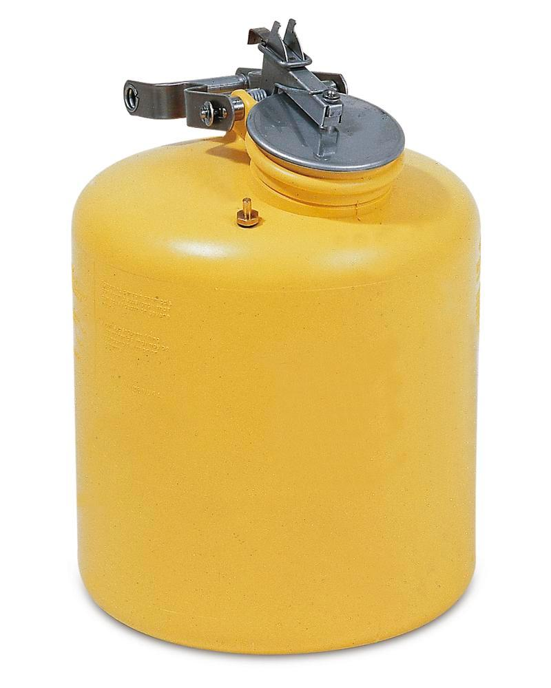 Polyethylene safety container, FM tested, 19 litre volume, yellow