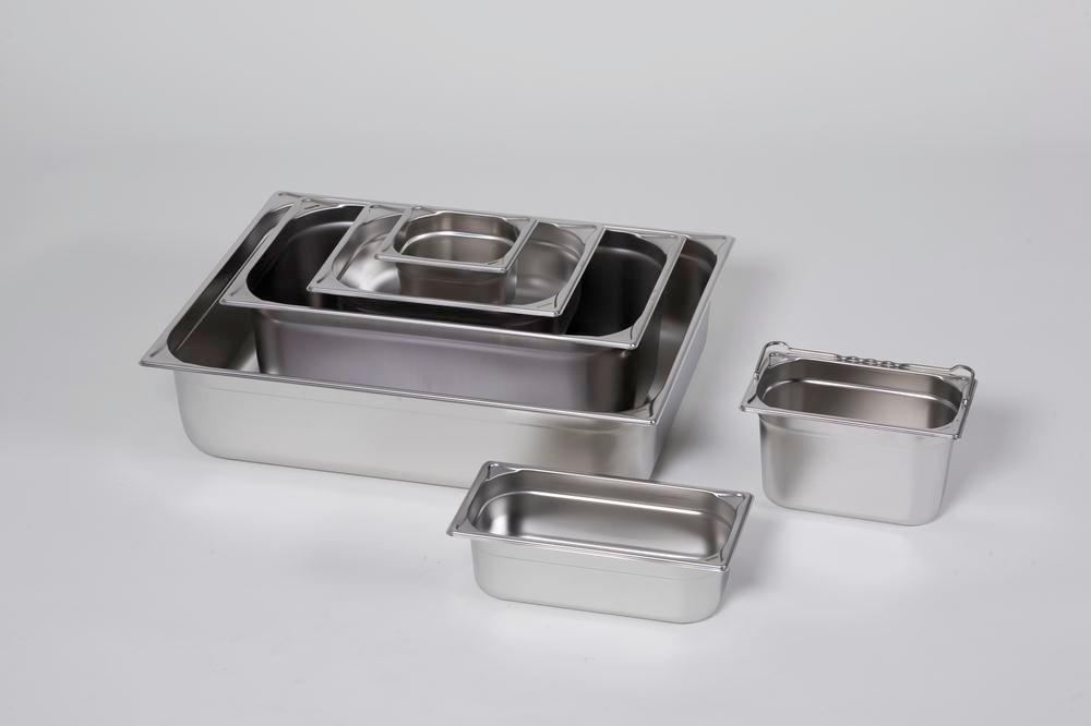 Small container GN 1/6-100, stainless steel, 1.6 litre capacity - 1