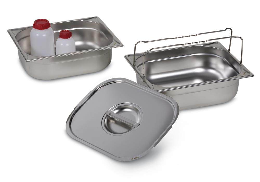 Small container GN-B 1/2-100, stainless steel, with handle, 6 litre capacity - 2