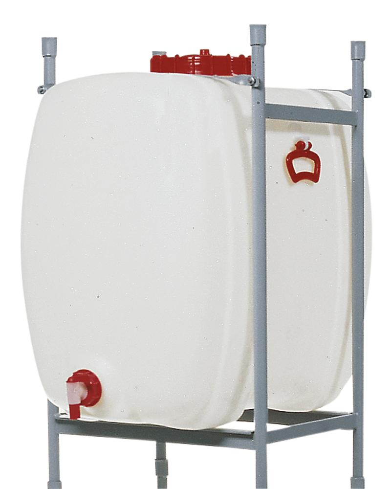 Space saving tank, polyethylene, with tap, 500 litre capacity