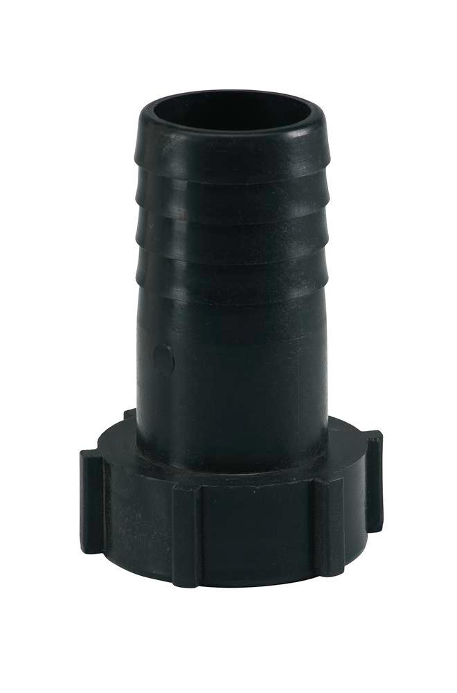 "Special thread adapter SG 6, DIN 61/31 (I) to 1 1/4"" hose, black"