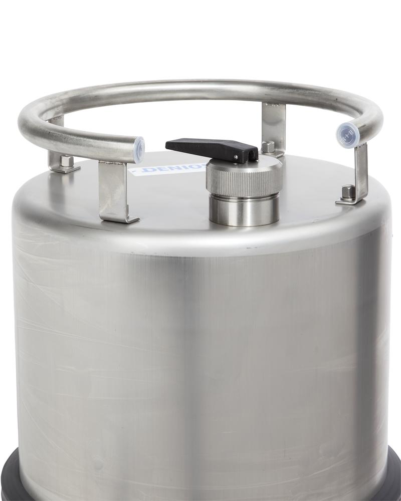 Stainless steel container, 25 ltr with tap 3/4 - 3
