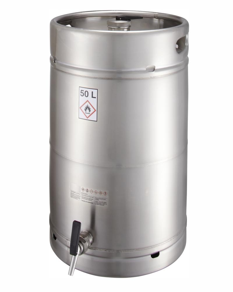 Stainless steel container, 50 ltr with tap 3/4 - 1