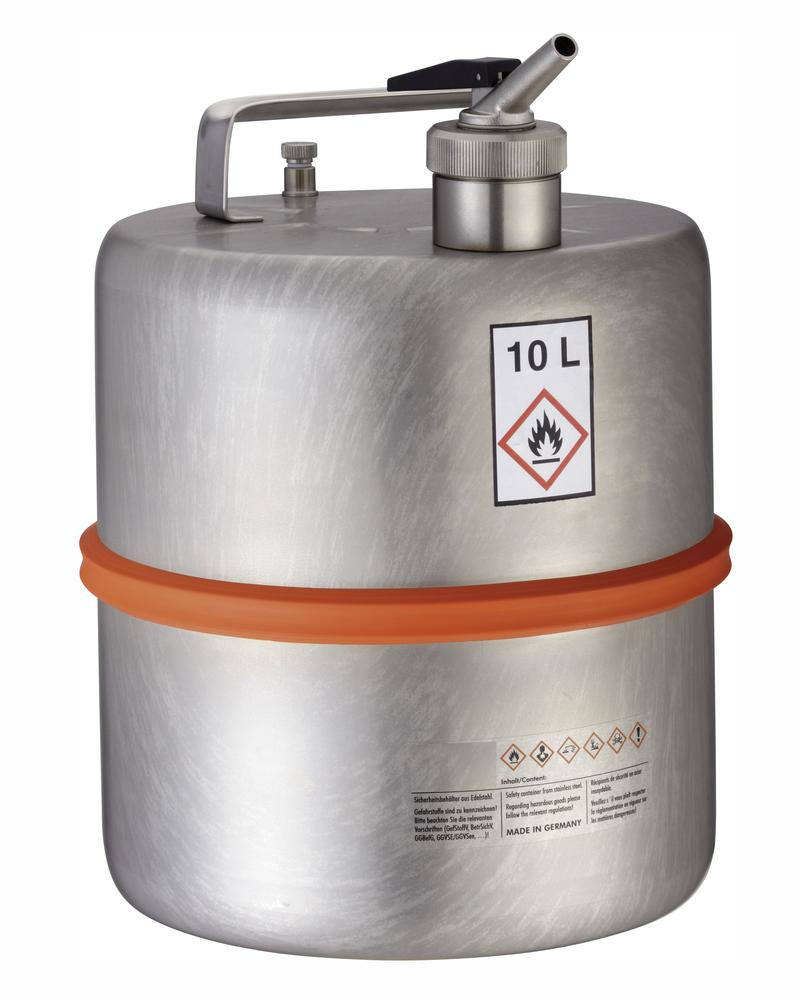 Stainless steel container with dosing tap, 10 ltr - 1