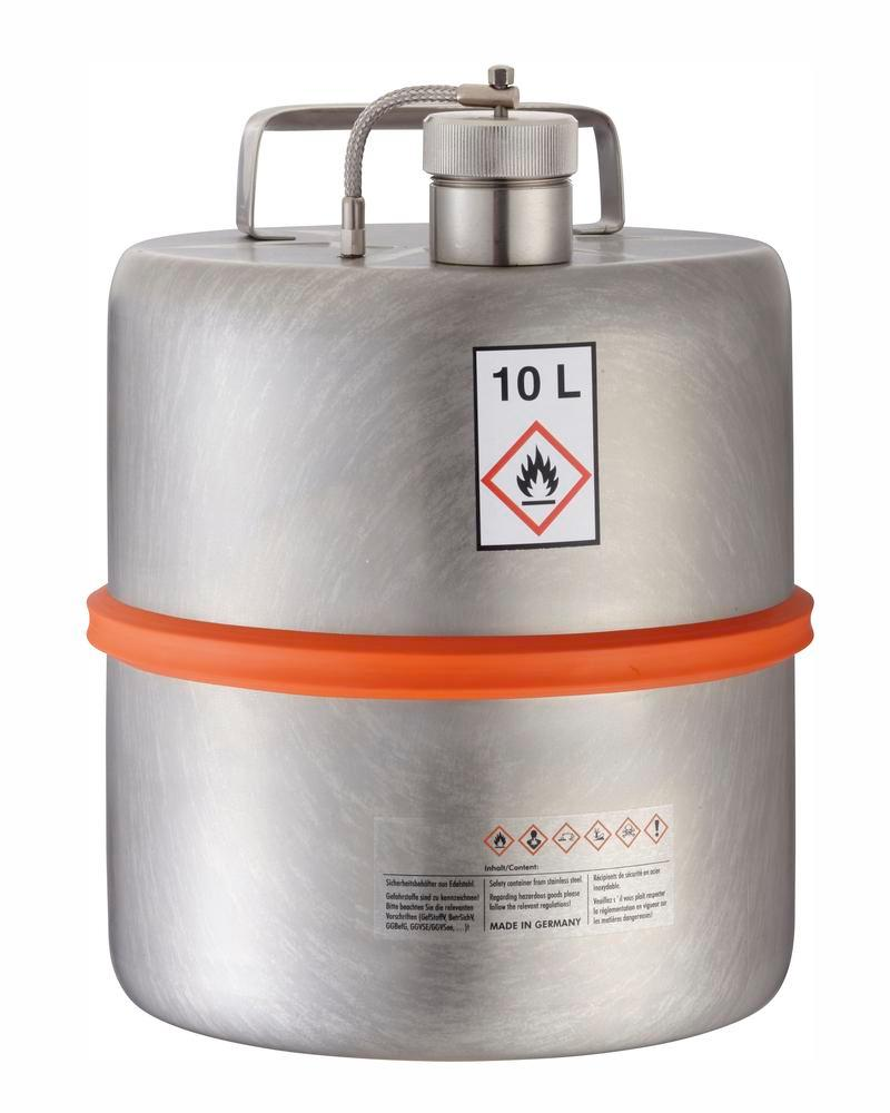 Stainless steel container with screw cap, 10 ltr