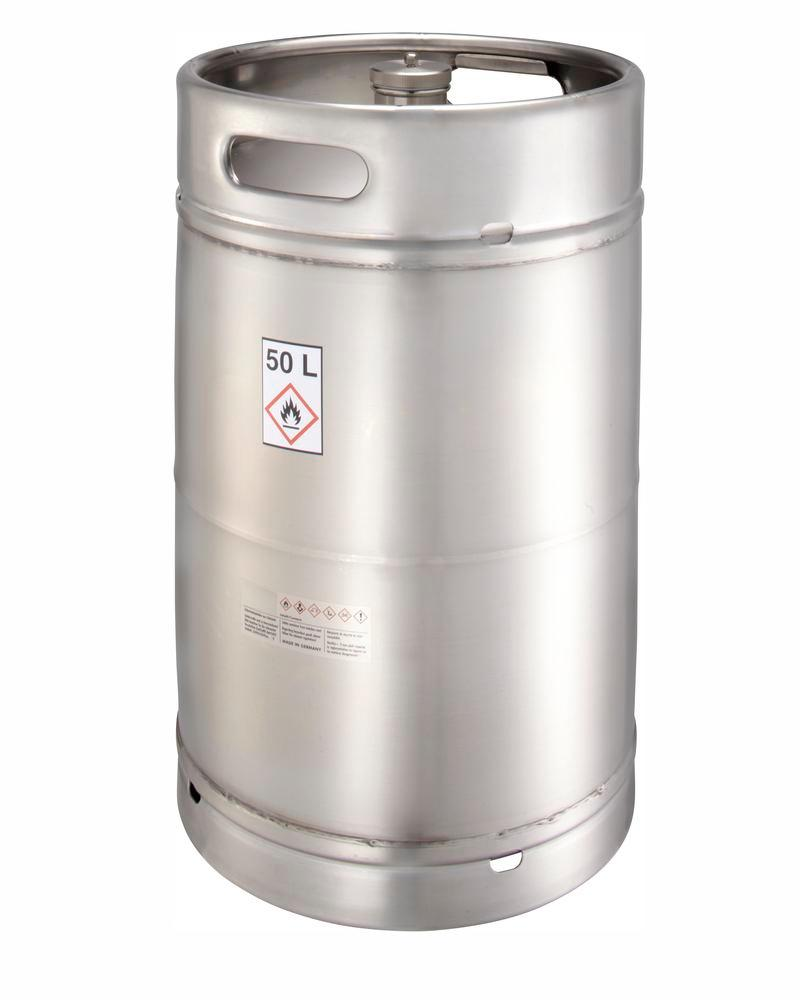 Stainless steel container with screw cap, 50 ltr