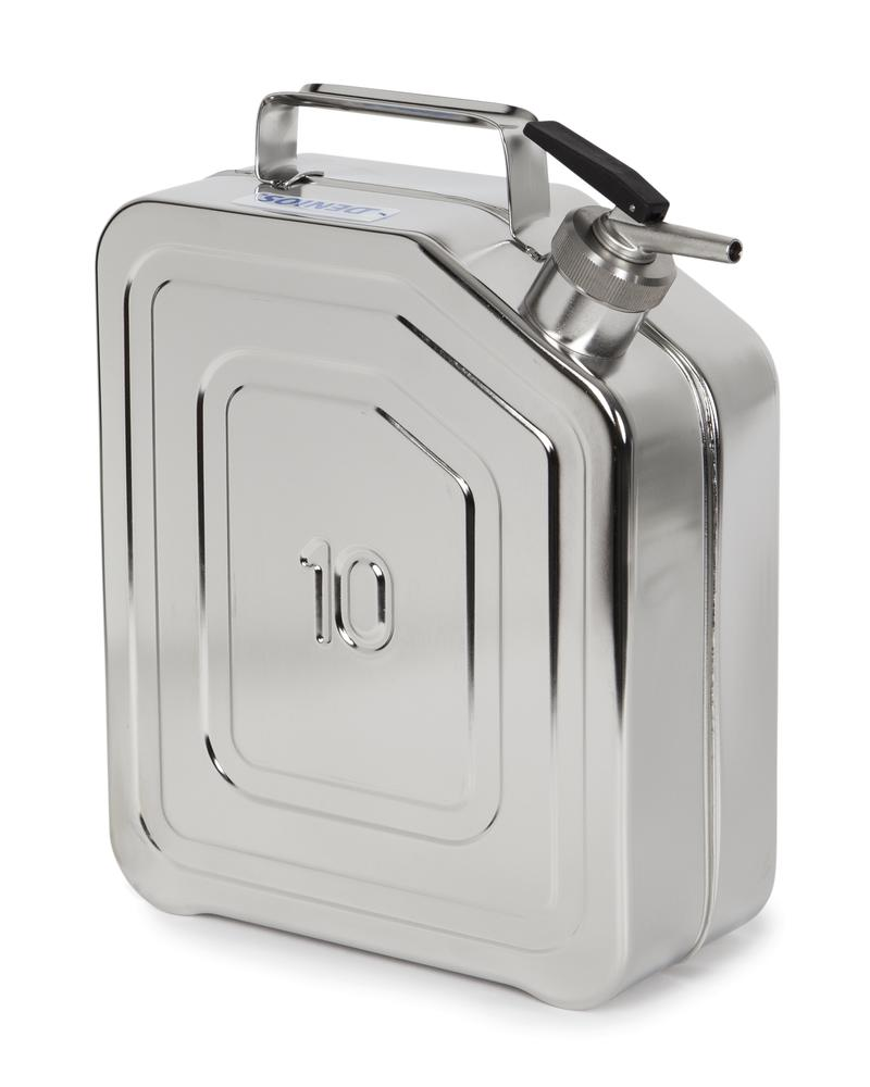 Stainless Steel Fuel Can, With Fine Measuring Tap, 10l