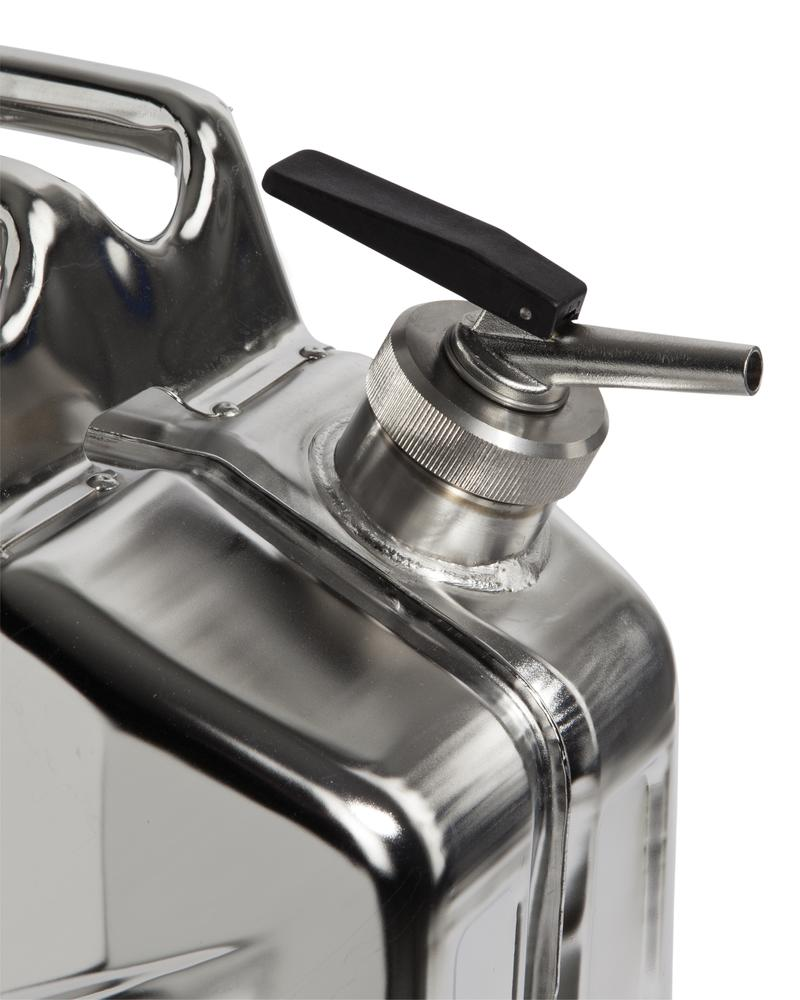 Stainless Steel Fuel Can, With Fine Measuring Tap, 20l - 2