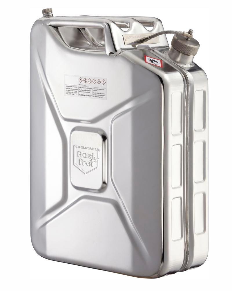 Stainless Steel Fuel Can, With Screw Cap, No Valve, 20l - 1