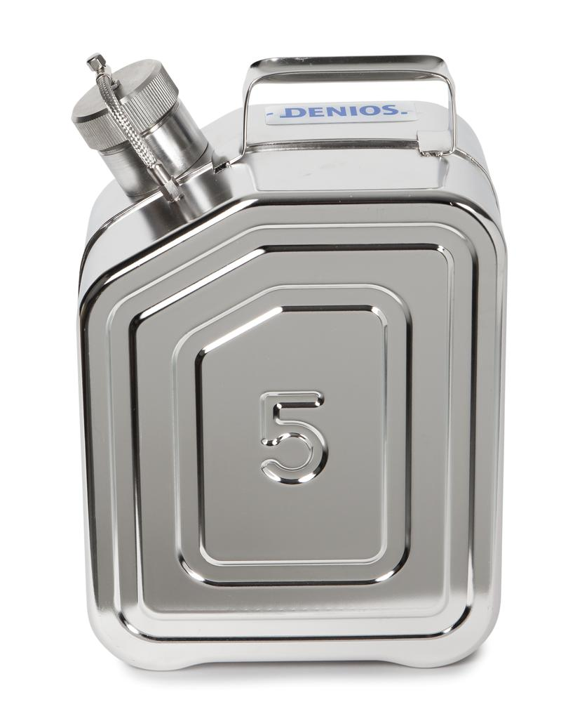 Stainless Steel Fuel Can, With Screw Cap, No Valve, 5l - 1