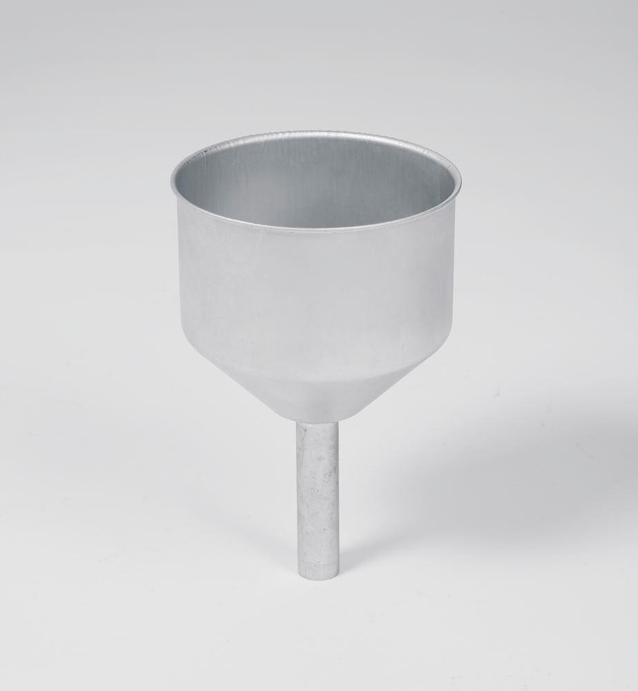 Stainless Steel funnel for safety containers, neck 23 x 95 mm, diameter feed opening = 138 mm