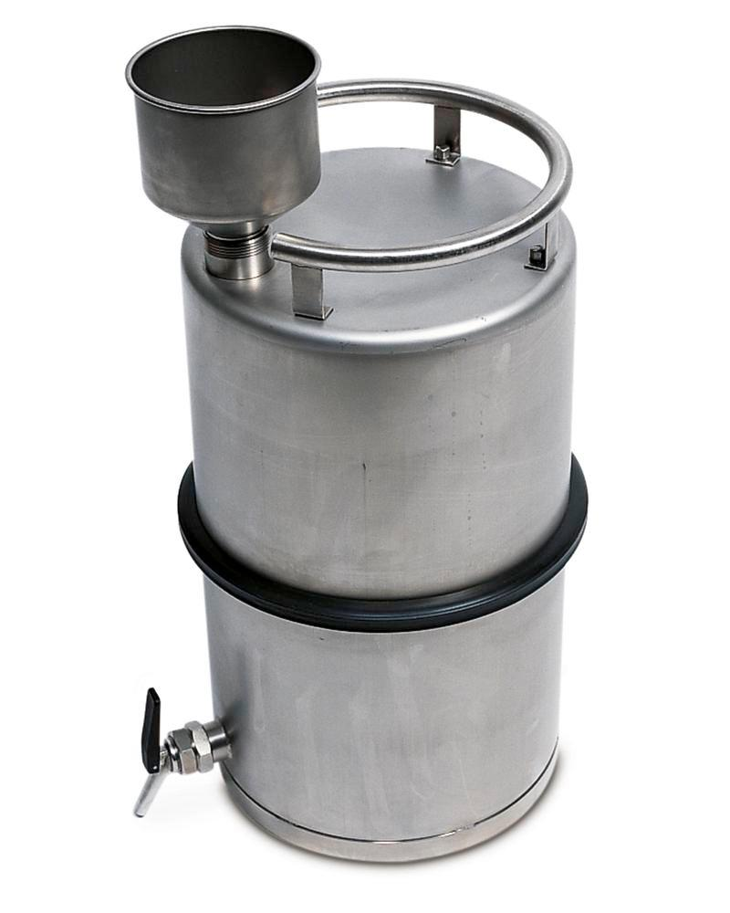 Stainless steel funnels for containers