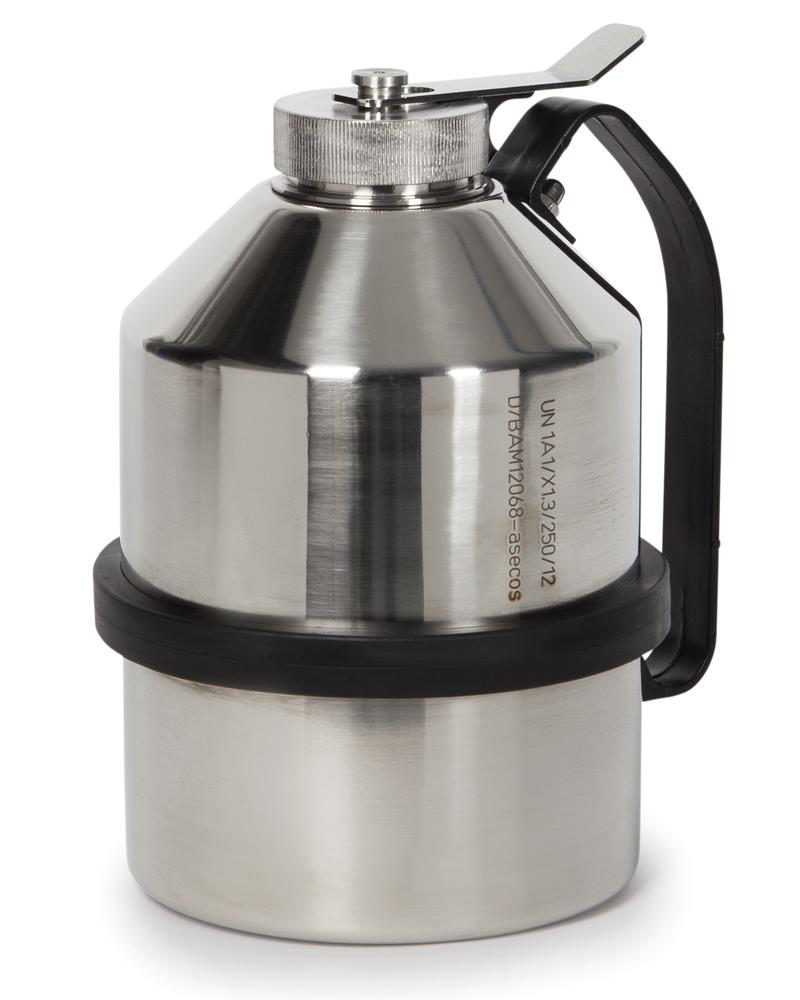 Stainless steel transport can, 2.5 ltr - 1