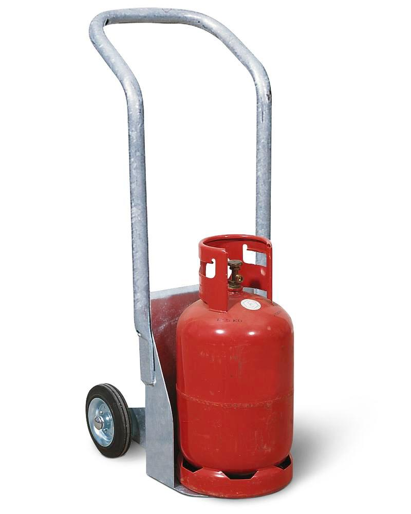 Steel Cylinder Trolley Model BK-60, With Rubber Wheels
