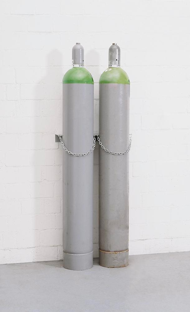 Steel Gas Cylinder Mounting Support Model WH 230-S2 - 2 Cylinders - 1