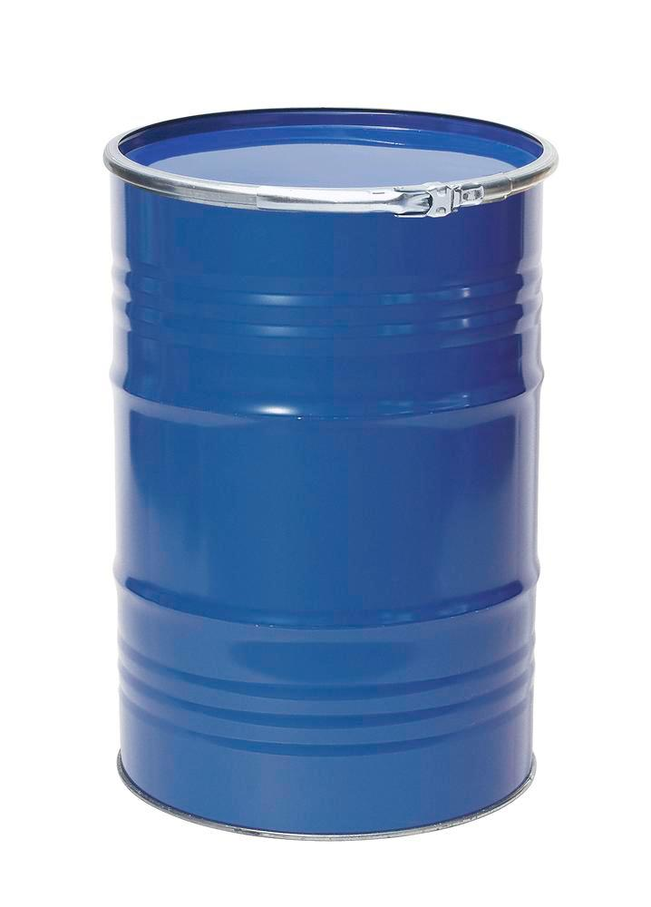 Steel lid drum, 212 litre capacity, interior and exterior painted, UN approved - 1
