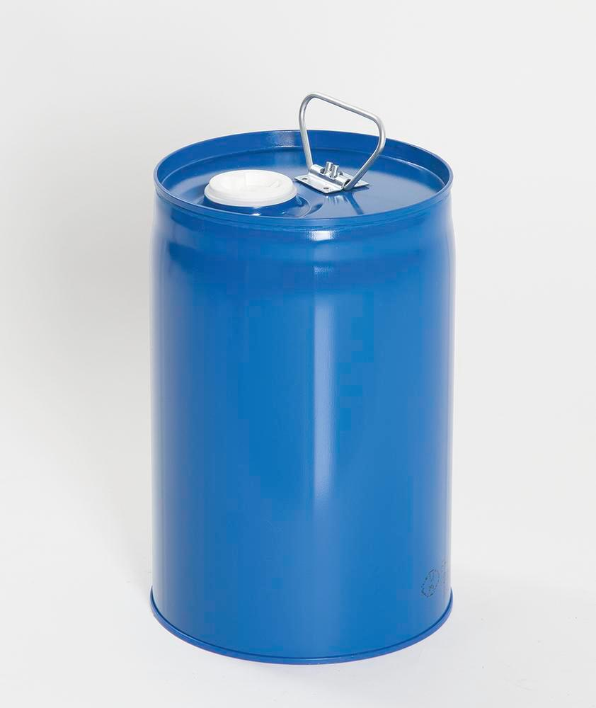 2 Safety combi container, painted steel with PE inner bladder, contains 12 litres. - 1