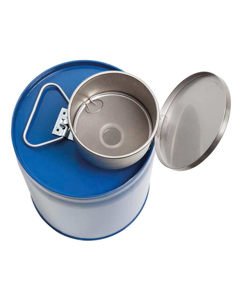 2 Safety combi container, painted steel with PE inner bladder, contains 12 litres. - 5