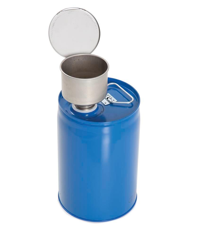 2 Safety combi container, painted steel with PE inner bladder, contains 12 litres. - 6