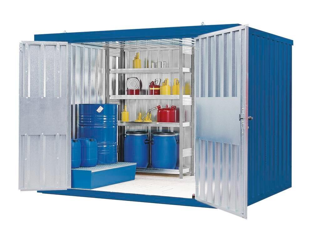 Component container MC 320-t2, galvanised and painted, with 2-wing door, supplied ready assembled