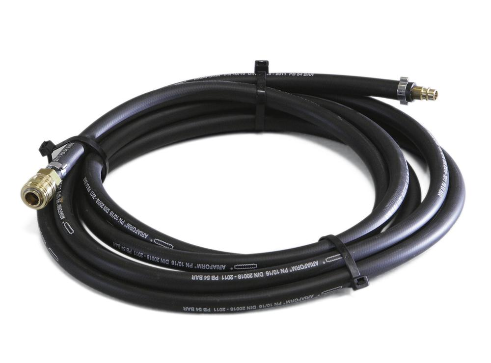 Compressed air hose for canal sealing, 10 m, black (abrasion-resistant and UV-resistant) with coupli